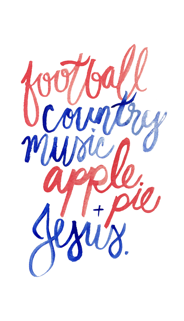 FootballCountryMusicApplePieJesus